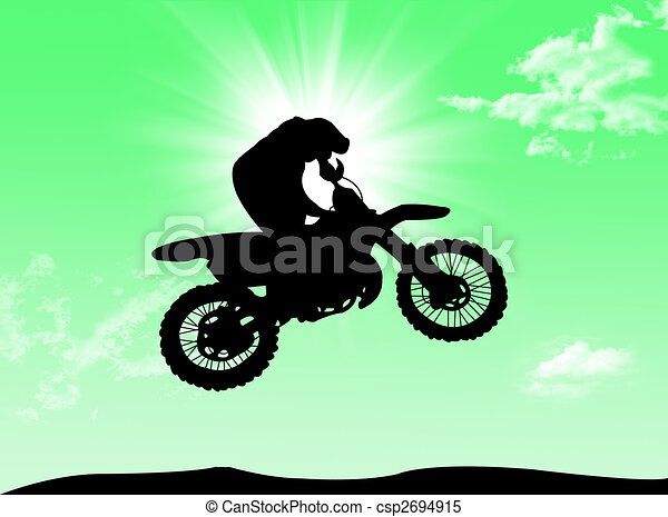 Biker in the sun - csp2694915
