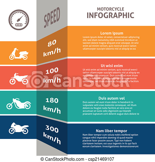 Biker infographic classification chart - csp21469107