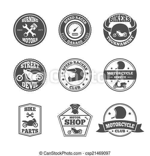 Biker label set - csp21469097