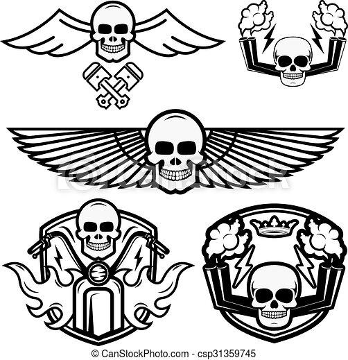 biker logos - csp31359745