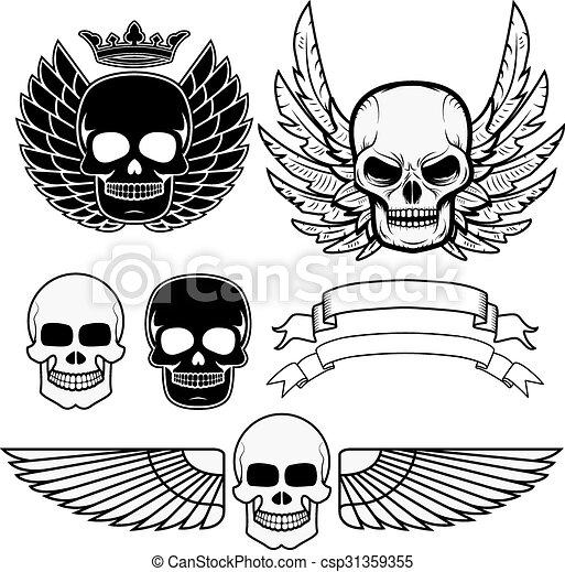 biker logos.eps - csp31359355