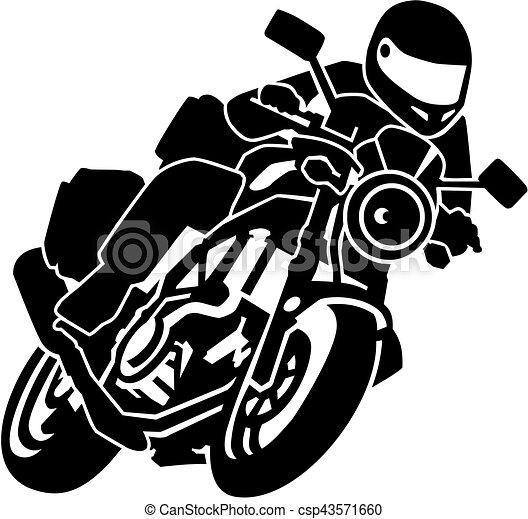 Biker on motorbike - csp43571660