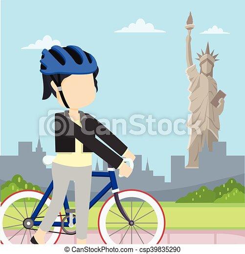 Libertad de viaje de motociclistas - csp39835290