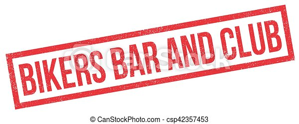 Bikers Bar And Club rubber stamp - csp42357453