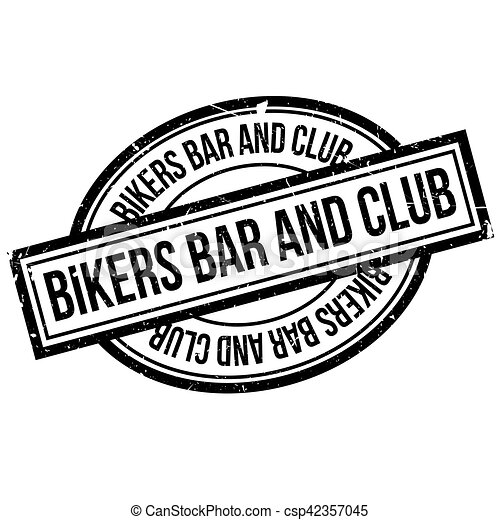 Bikers Bar And Club rubber stamp - csp42357045