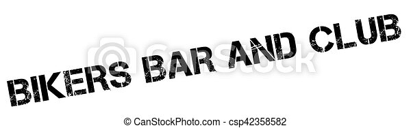 Bikers Bar And Club rubber stamp - csp42358582
