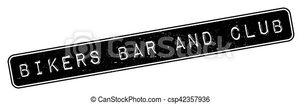 Bikers Bar And Club rubber stamp - csp42357936