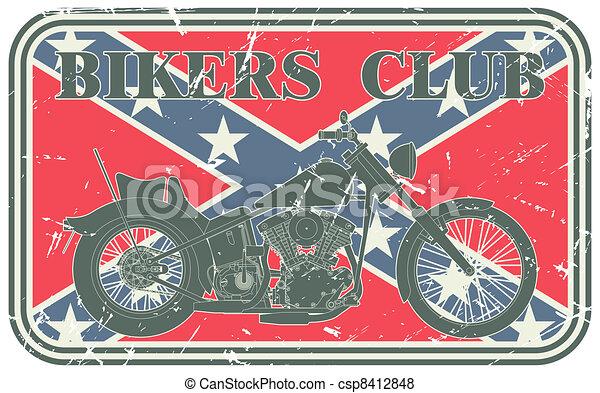 Bikers club stamp - csp8412848