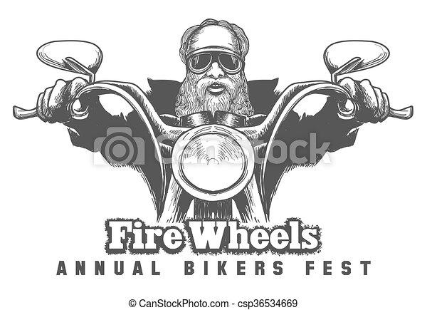 Bikers Festival Emblem - csp36534669