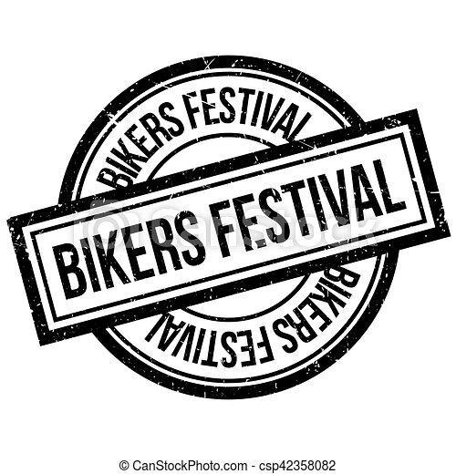 Bikers Festival rubber stamp - csp42358082