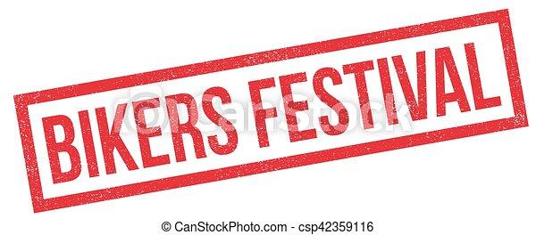 Bikers Festival rubber stamp - csp42359116
