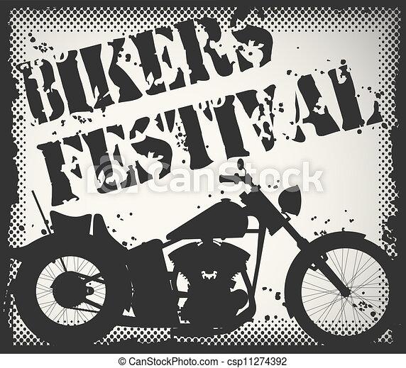Bikers festival stamp - csp11274392