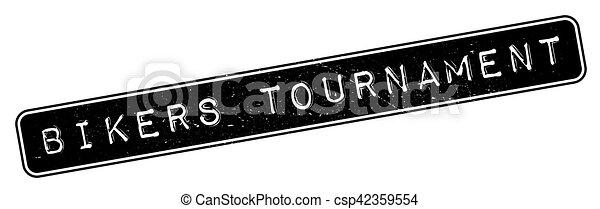 Bikers Tournament rubber stamp - csp42359554