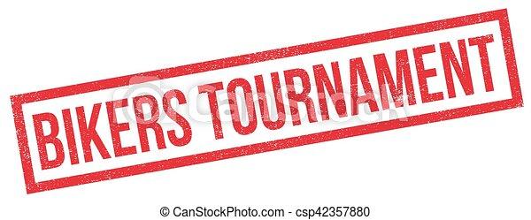 Bikers Tournament rubber stamp - csp42357880