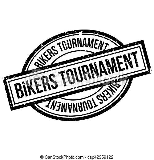 Bikers Tournament rubber stamp - csp42359122