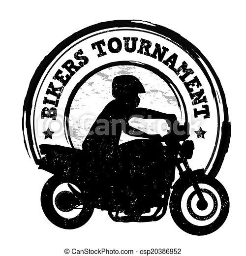 Bikers tournament stamp - csp20386952