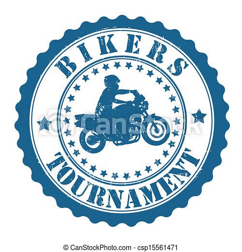 Bikers Tournament stamp - csp15561471