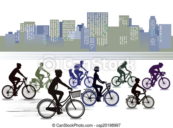 Biking in the city - csp20198997