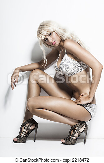 Bikini Fashion Model  - csp12218472