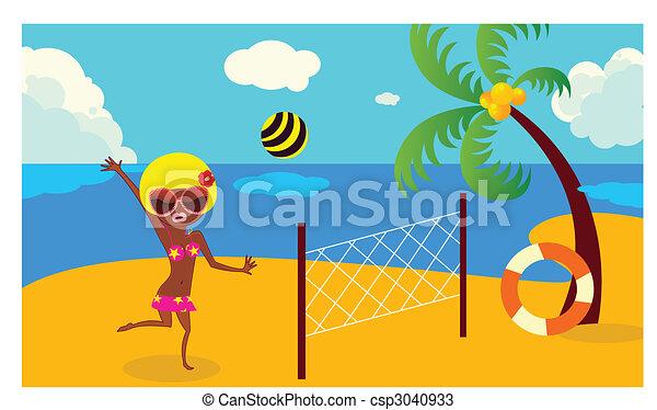 bikini girl - csp3040933