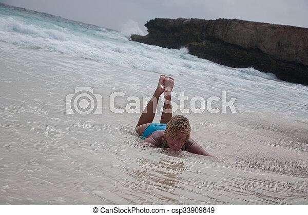 bikini Girl Sea beach - csp33909849