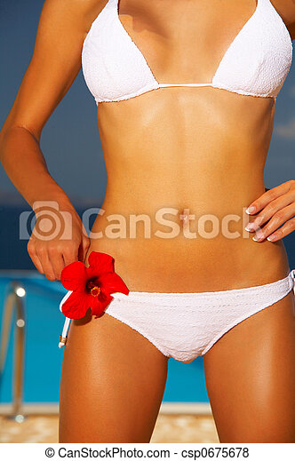 Bikini in action - csp0675678