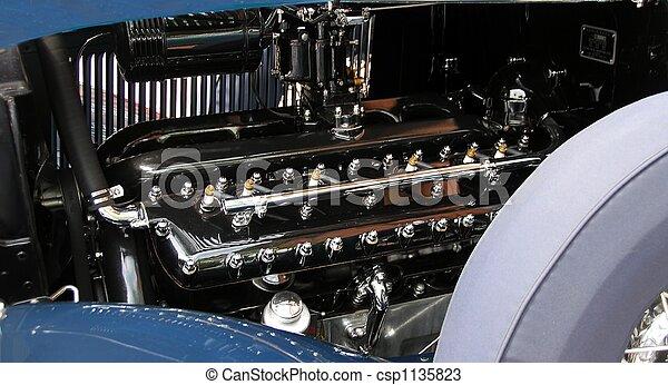 bil, årgång, motor - csp1135823