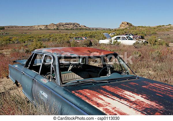 bil, kyrkogård - csp0113030