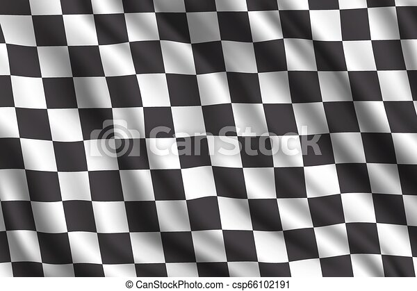 bil, realistisk, flagga, samla, tävlings-, 3 - csp66102191