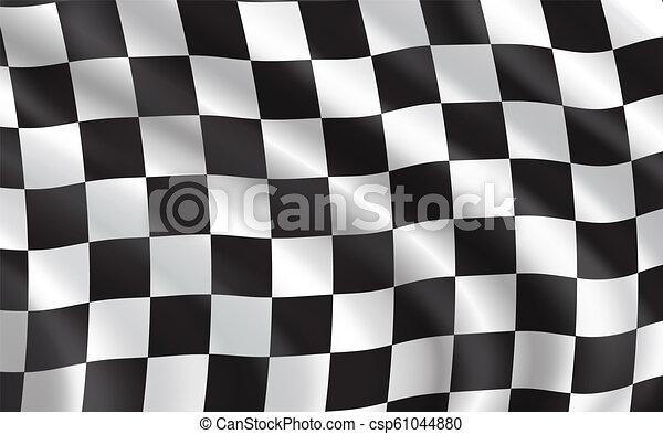 bil, sport, biltävlingar flagga, brocket - csp61044880