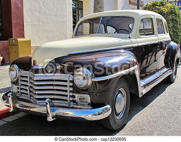 bil, u.s., typisk, gammal, årgång - csp12230695