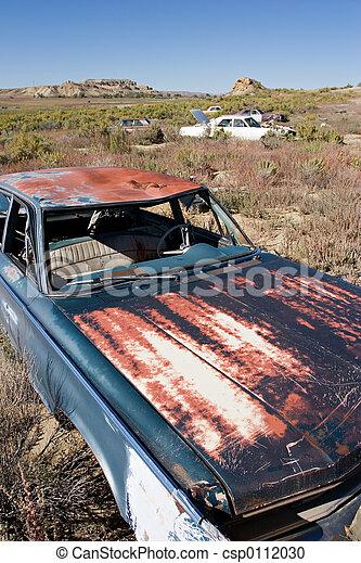 bilar, övergiven - csp0112030