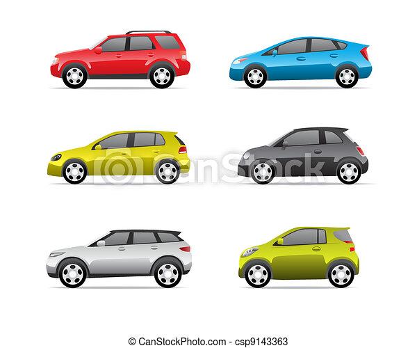 bilar, del, 2, sätta, ikonen - csp9143363
