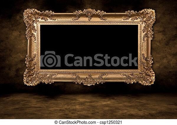 bild, barocker stil, rahmen, leer - csp1250321