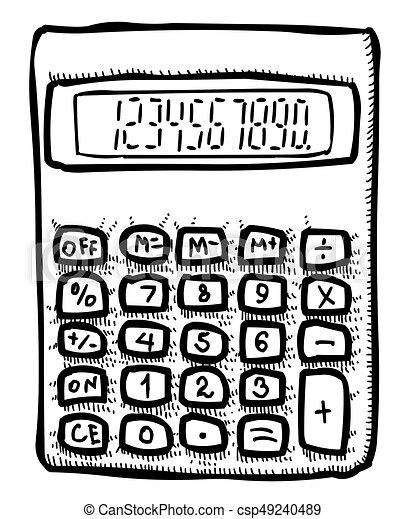 Bild Karikatur Symbol Mathematik Icon Taschenrechner Bild