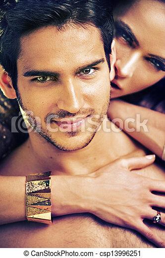 bild, liebhaber, attraktive, bunte - csp13996251