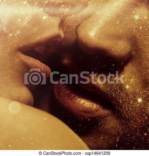 bild, lippen, auf, sinnlich, schließen - csp14641209
