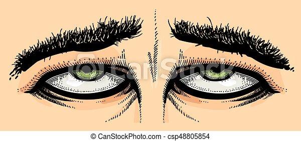 Kartoonbild von müden Augen - csp48805854