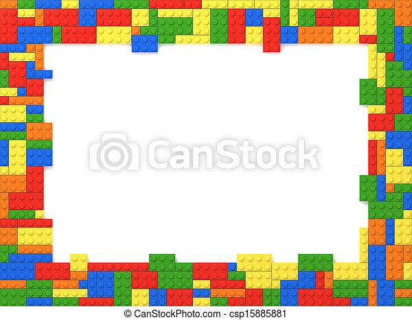 Bild, spielen ziegelsteine, rahmen, wahlfrei, -, farben.... Bilder ...