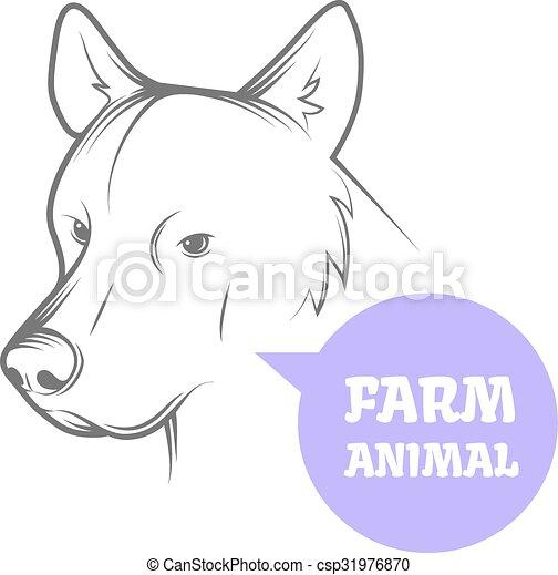 Vektorbild eines Hundes - csp31976870