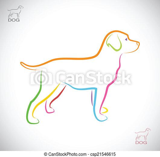 Vector Bild eines Hunde-Laboradors - csp21546615