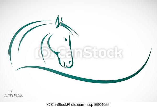 Vektorbild eines Pferdes - csp16904955