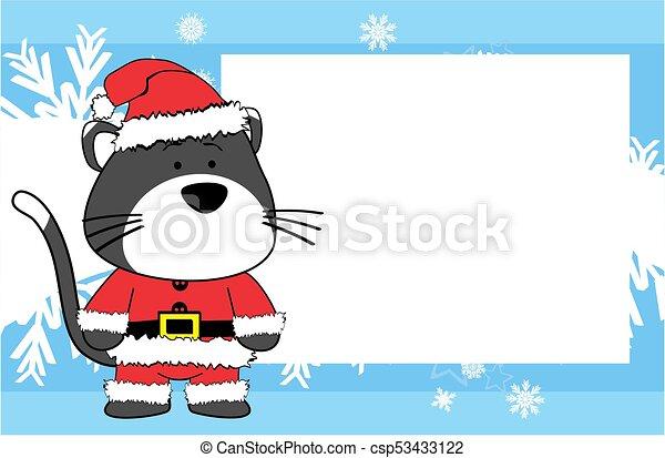 Weihnachten Bilder Bearbeiten.Bild Weihnachten Reizend Rahmen Katz Hintergrund Karikatur