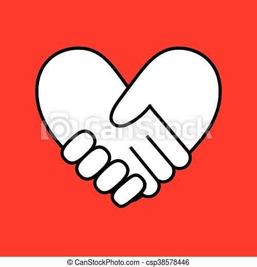 bilda, hjärta, handslag - csp38578446