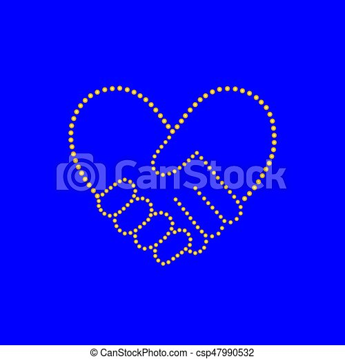 bilda, hjärta, handslag - csp47990532