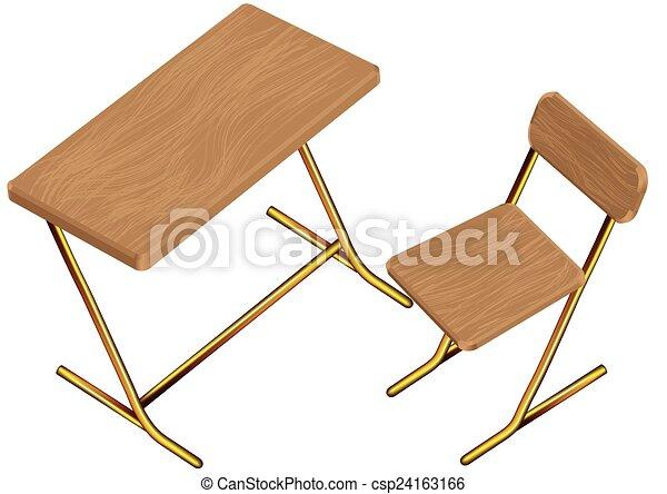 bilden schreibtisch stuhl kinder clipart vektor suchen. Black Bedroom Furniture Sets. Home Design Ideas