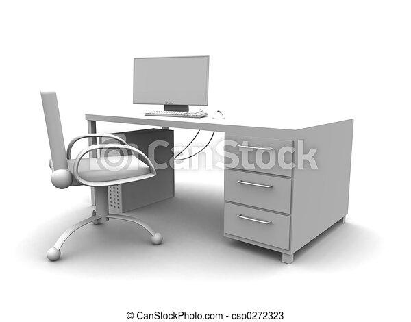 Arbeitsplatz computer clipart  Zeichnungen von bildschirmarbeitsplatz - geleistet, einstellung ...