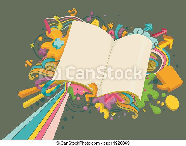 Bildungsdesign mit leerem Buch - csp14920063