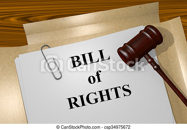 Bill of Rights concept - csp34975672