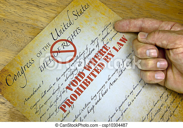 """Bill Of Rights, """"Voided By Law"""" - csp10304487"""